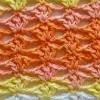 Punto rombos crochet