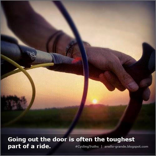 Going out the door is often the toughest part of a ride. - CyclingTruths - Anello-Grande