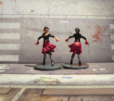 Zombicide Kickstarter Zombie Walker Sexy lady Night Painted