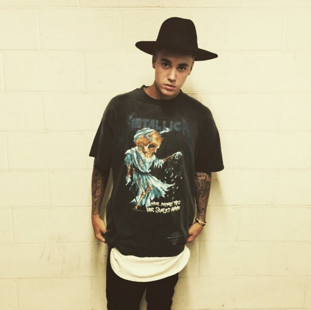 Justin Bieber slammed by heavy metal fans for wearing Metallica t-shirt