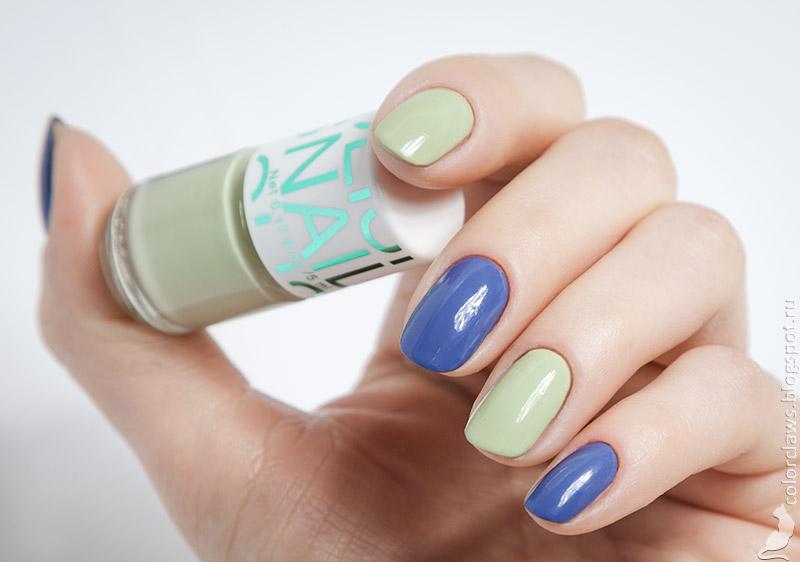 Yves Rocher #24 Bleu Mauve + H&M Mint Green