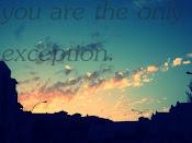 La única excepción♥.