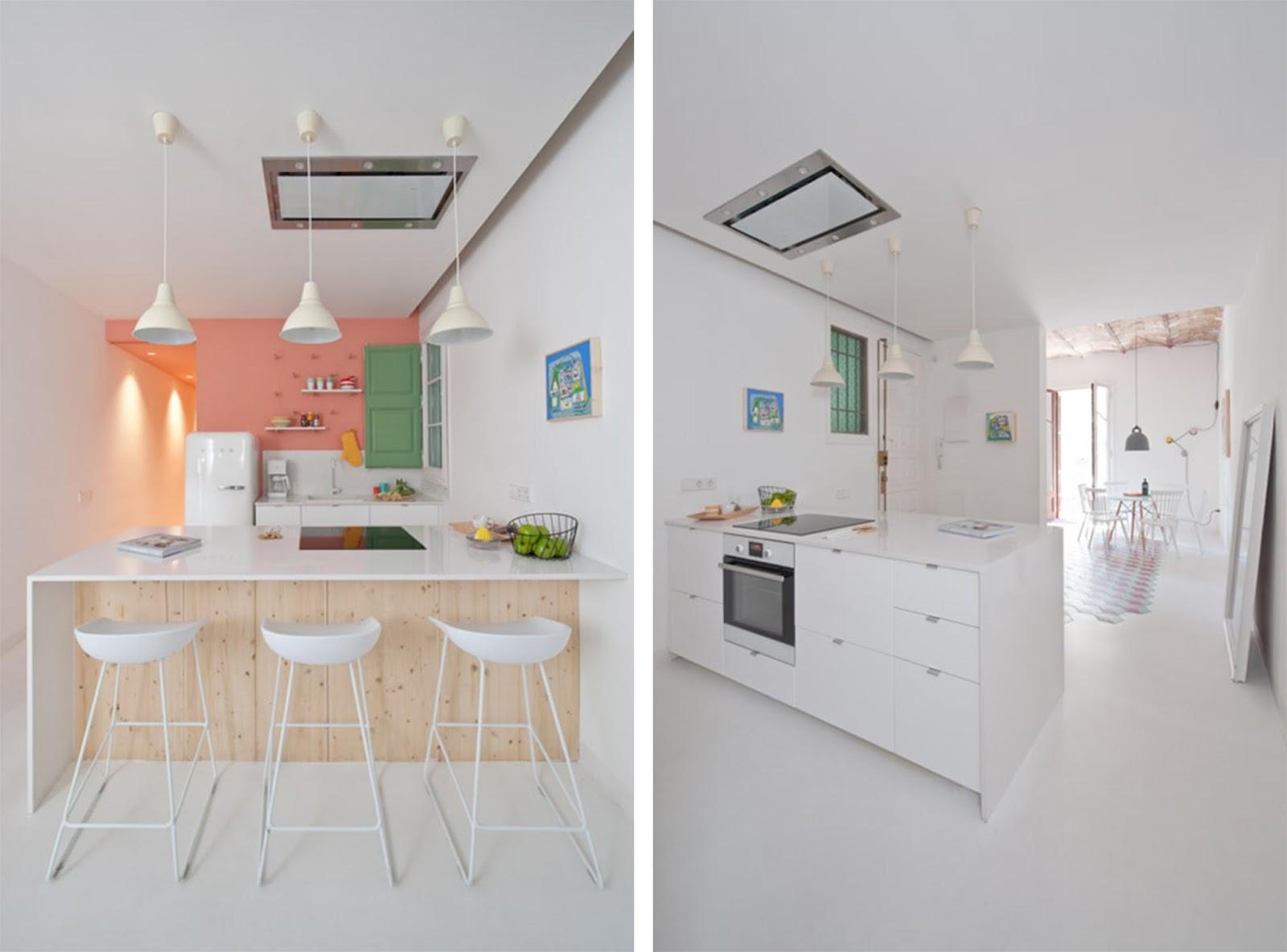 Appartamento a barcellona dai colori vivaci in stile art for Appartamento moderno
