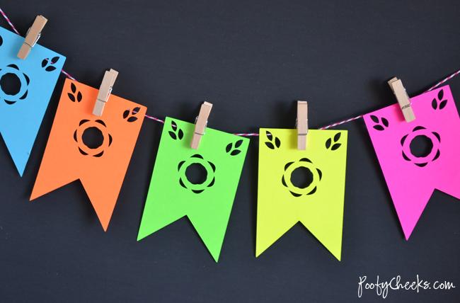 Bandeirinhas diferentes para festa junina