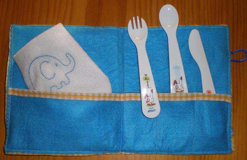 Broches y accesorios dlilos cartera para cubiertos de beb for Cubiertos para bebes