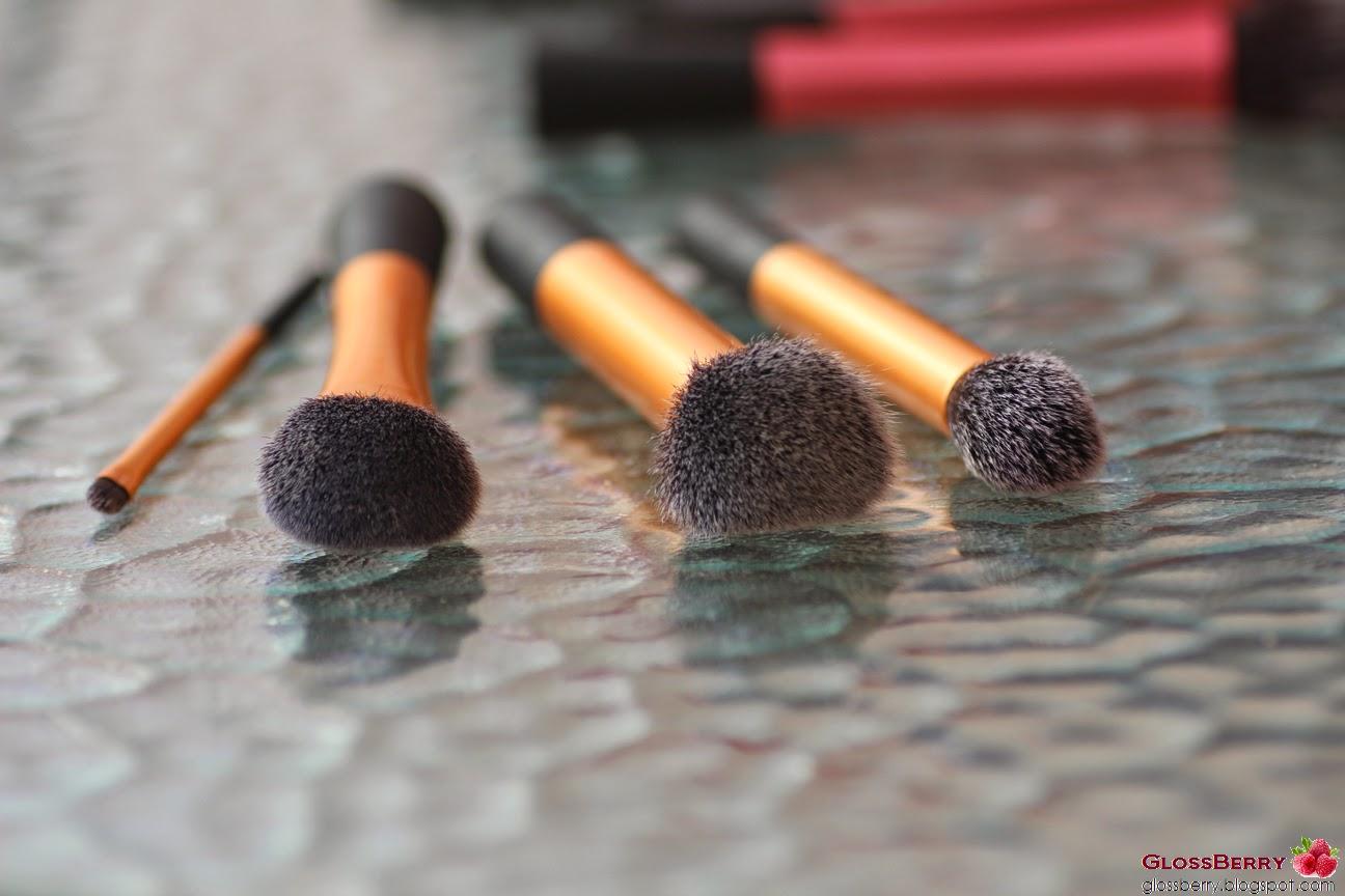 מברשות פנים מייקאפ סומק פודרה ברונזר ריל טכניקס real techniques face brushes core blush contour makeup foundation bronzer iherb