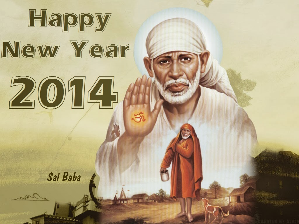 Khushi for life sai baba wishes for new year 2014 best greetings hindu goddess sai baba blessings and good wishes messages cards of new year 2014 m4hsunfo