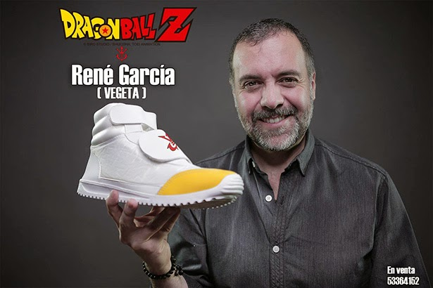 René García, zapatillas oficiales Dragon Ball Heredia Clothing