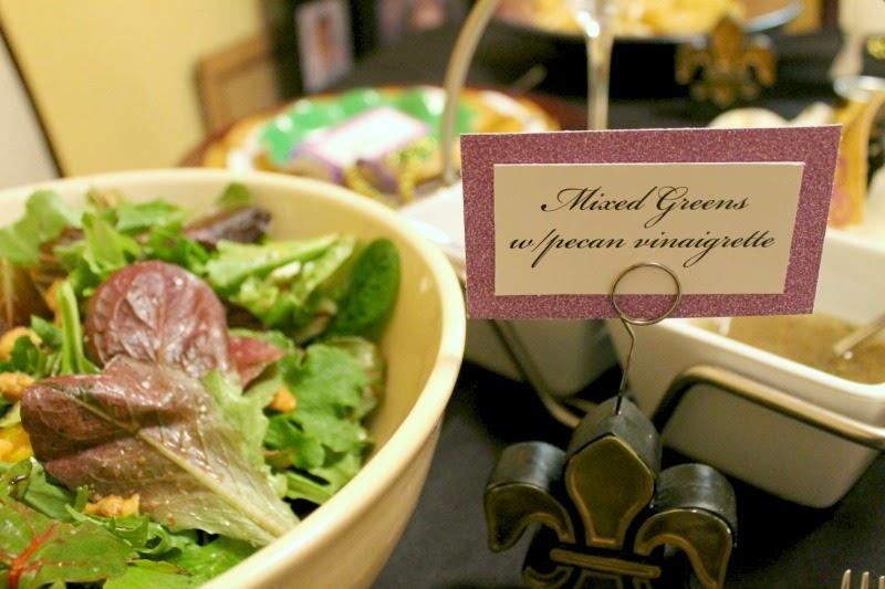Mardi Gras salad, Mixed Greens Salad, Fleur de lis