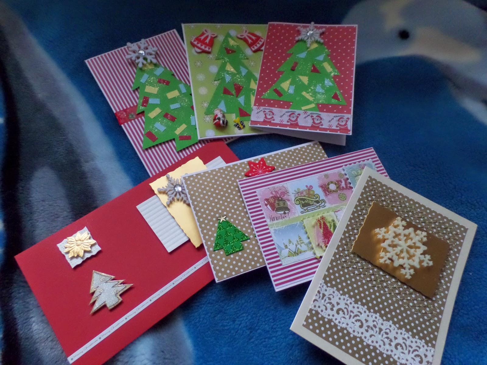 20. Kartki świąteczne - handmade ;)