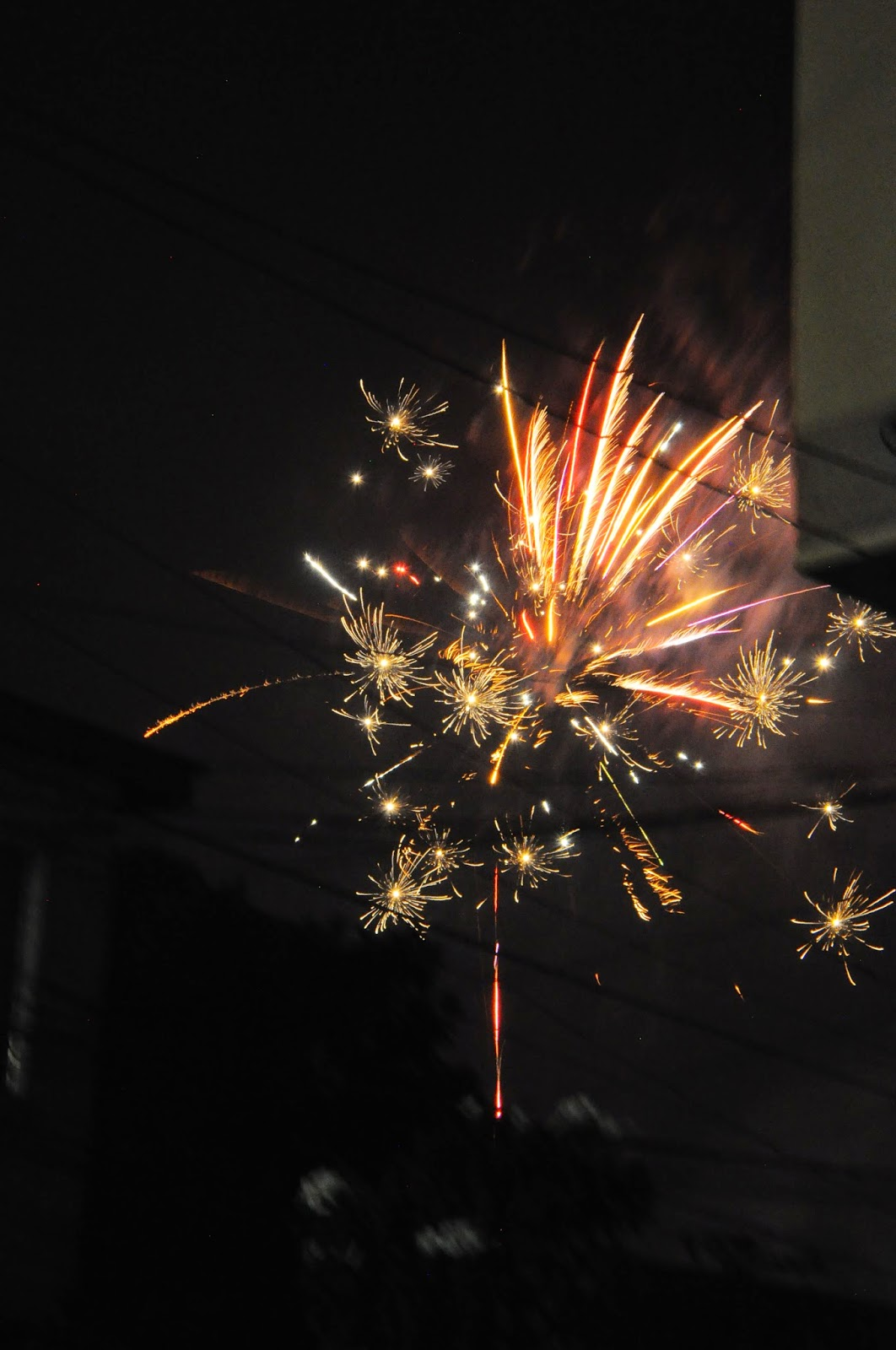 fireworks on new years eve of 2015