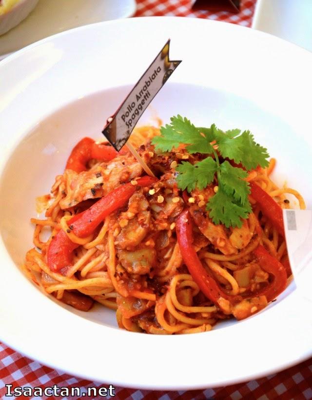 Pollo Arrabiata Spaghetti