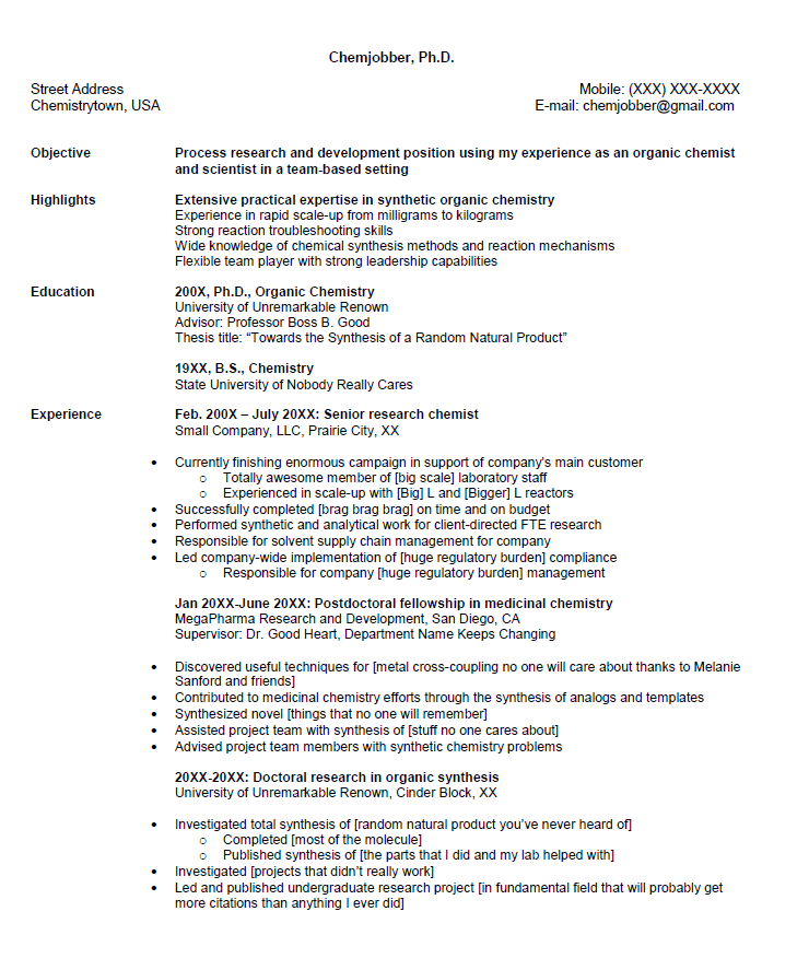critique my resume