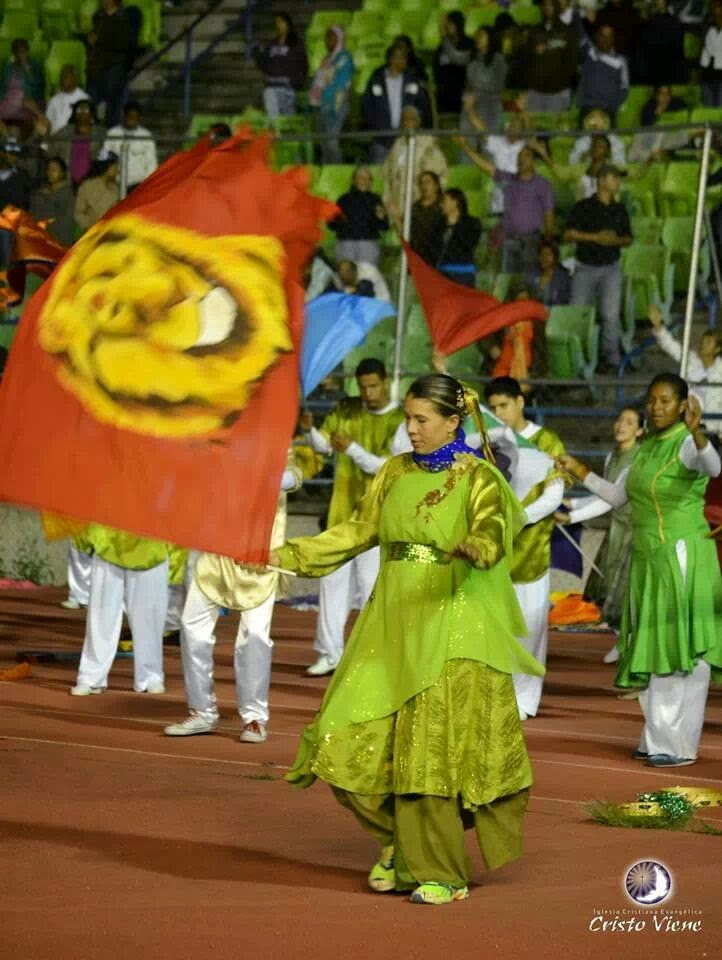 Danza con banderas