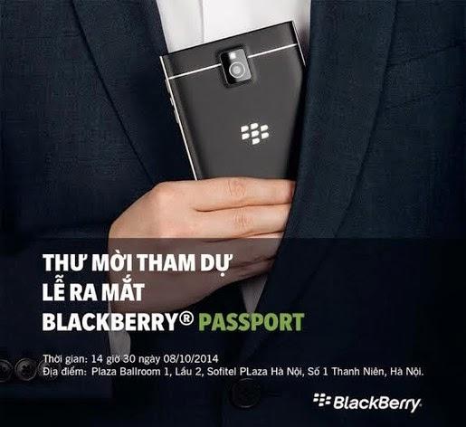 BlackBerry gửi thư mời sự kiện ra mắt BlackBerry Passport