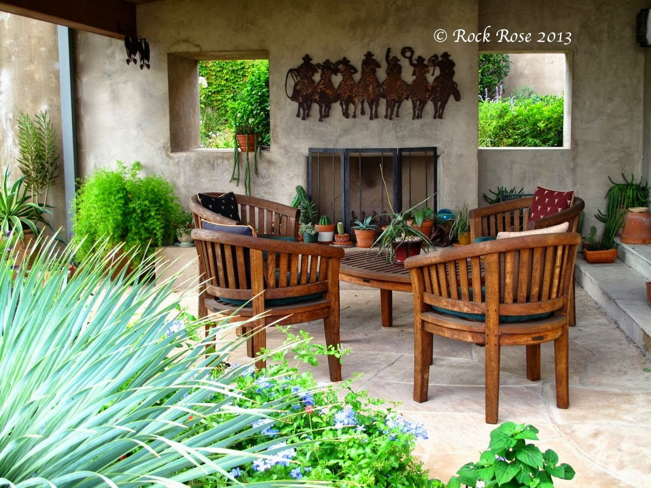 ROCK ROSE: THE RIGHT PLACES TO SIT IN THE GARDEN