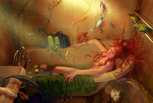 Sleeping, Fantasy Art, sad poems