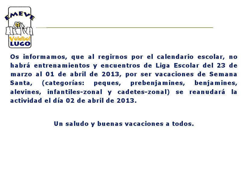 Club Voleibol Emeve Lugo: marzo 2013