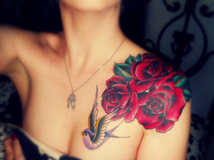 tattoo ideas for women on the shoulder