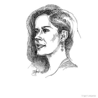 Salma Hayek face, portrait
