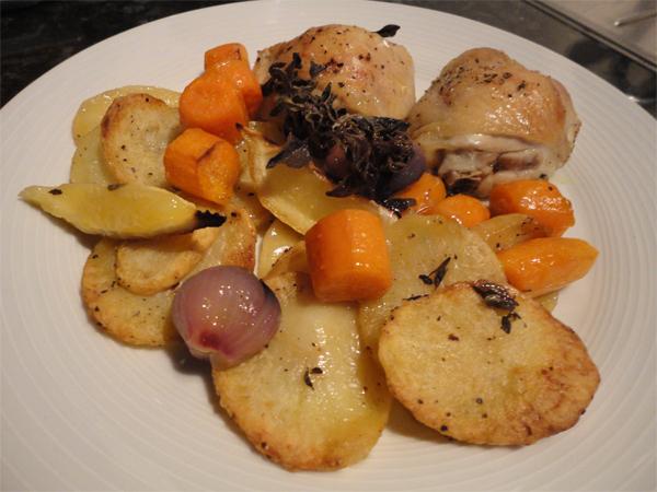 Martine's Recipes: Lemon and oregano chicken roast