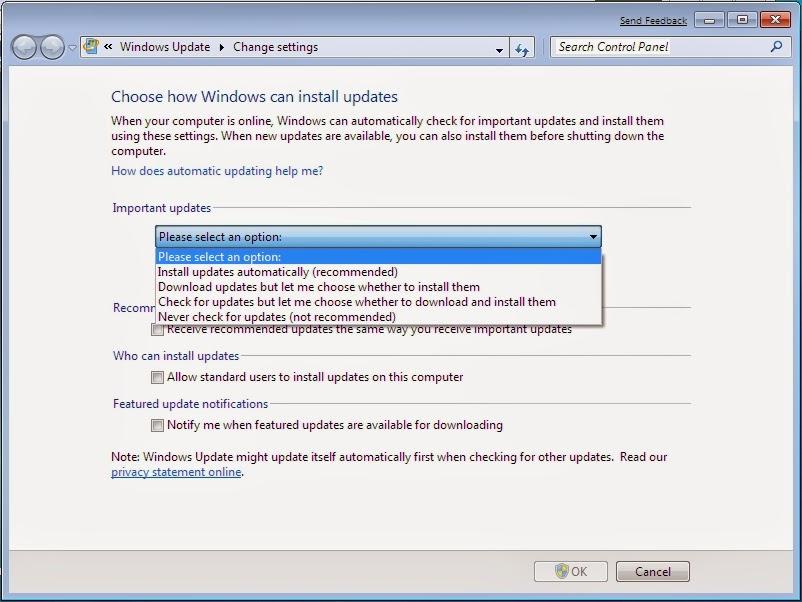 Cara Menonaktifkan Otomatis Update Windows 7