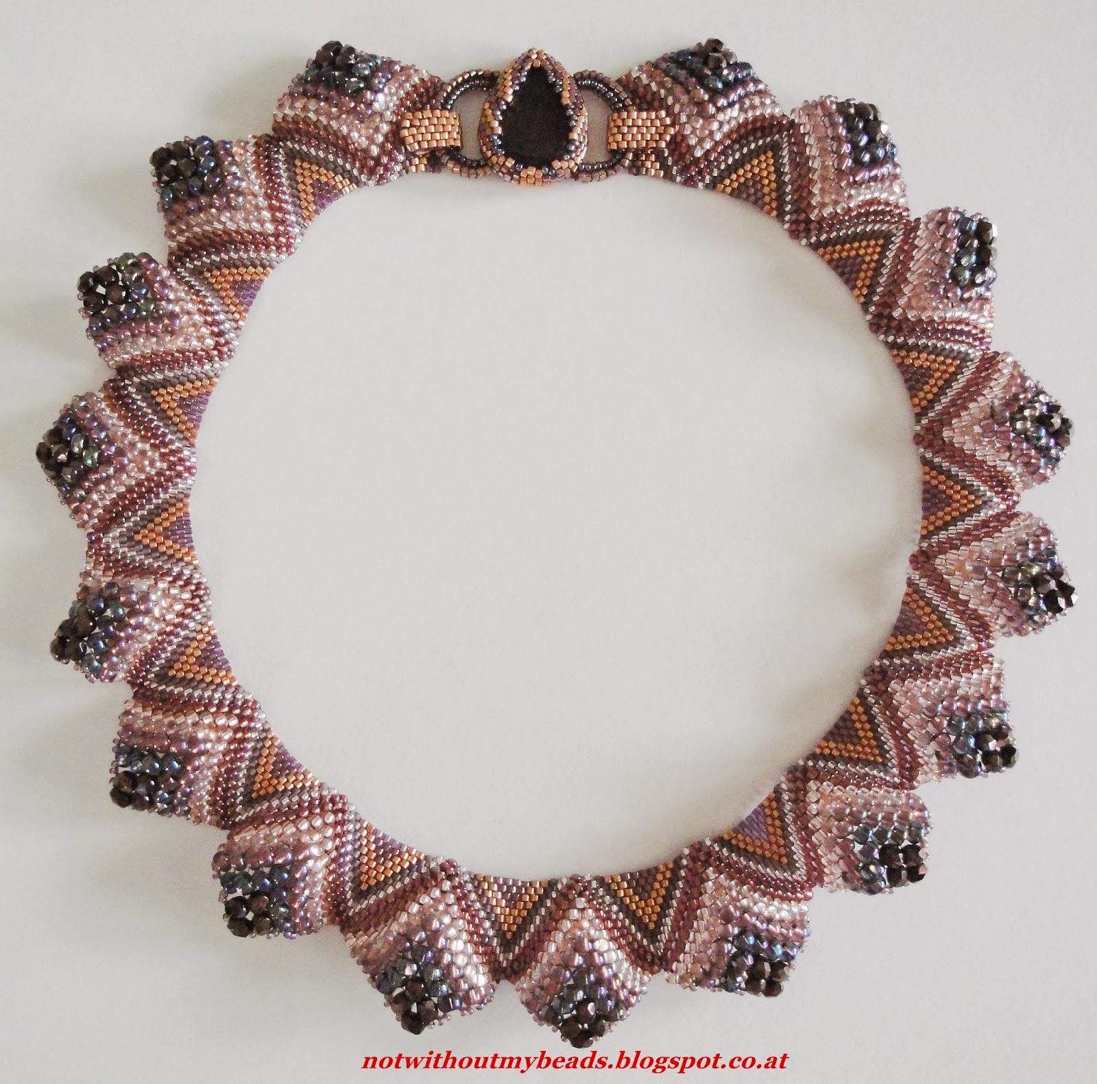 Stunning Sculptural Peyote Necklace Tutorial ~ The Beading Gem\'s Journal