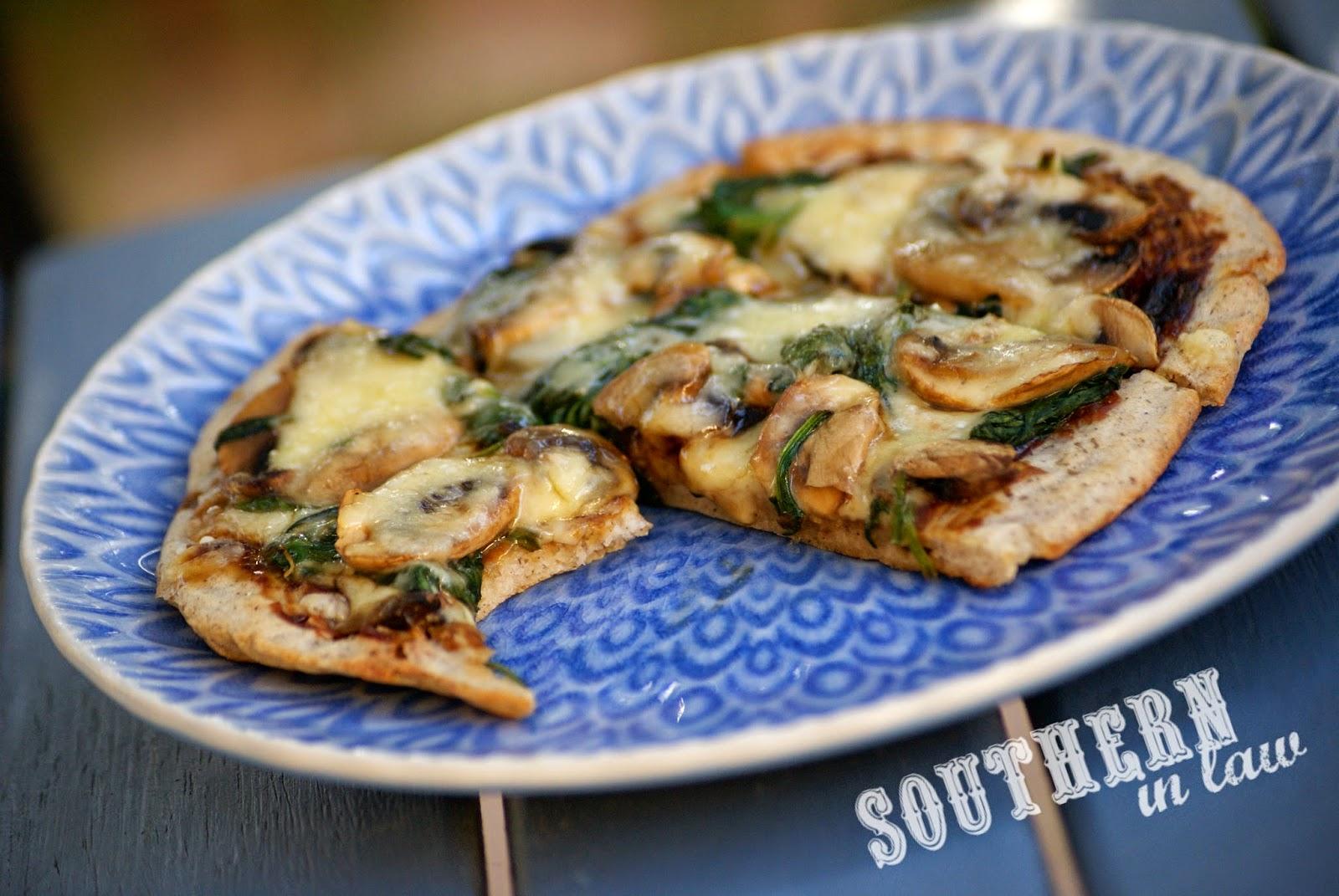 Healthy Vegemite Pizza Flatbread Recipe - gluten free, low fat, sugar free, vegan, egg free, dairy free