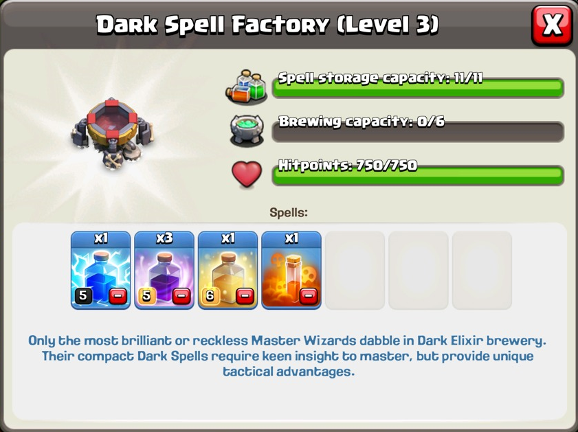 clash of clans spell factory - photo #24