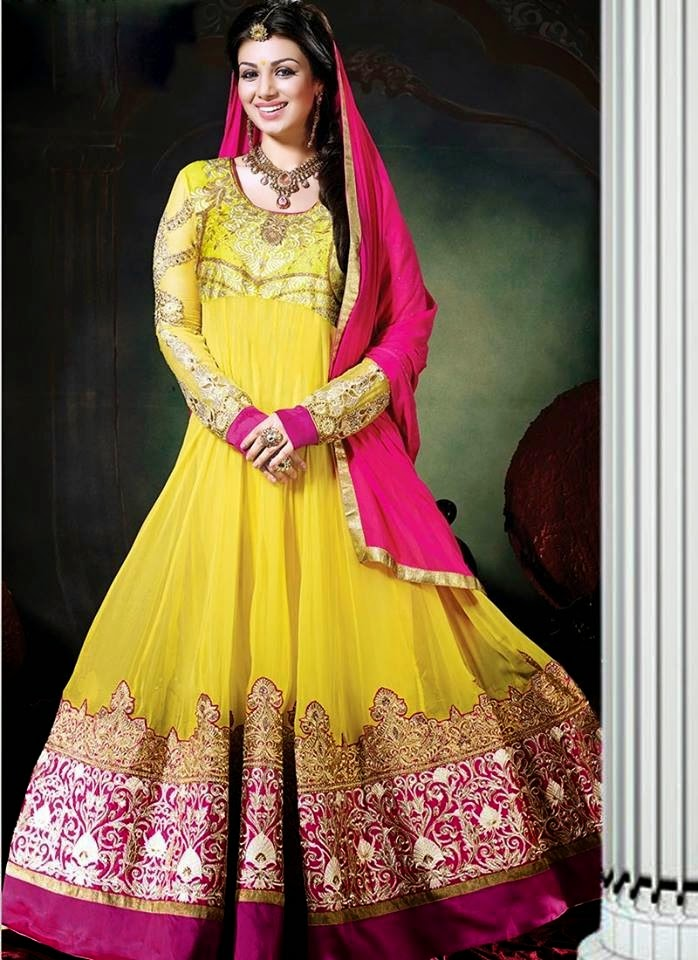 Mehndi Clothes Uk : Trends of yellow multicoloured mehndi dresses in