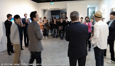 Ben Heine solo exhibition in South Korea: Speech with INMD and the Belgian Embassy