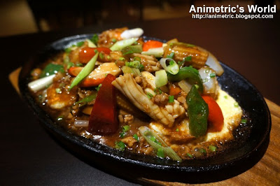 Sizzling Japanese Tofu Seafood at Nasi Lemak Singapore Food Republic