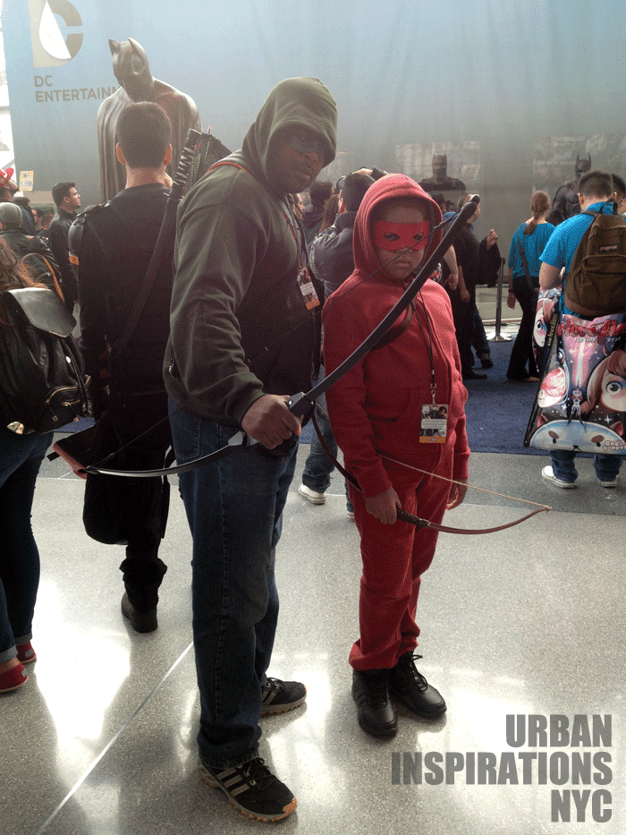 Father, Son, NYCC, Green Arrow, Cosplay