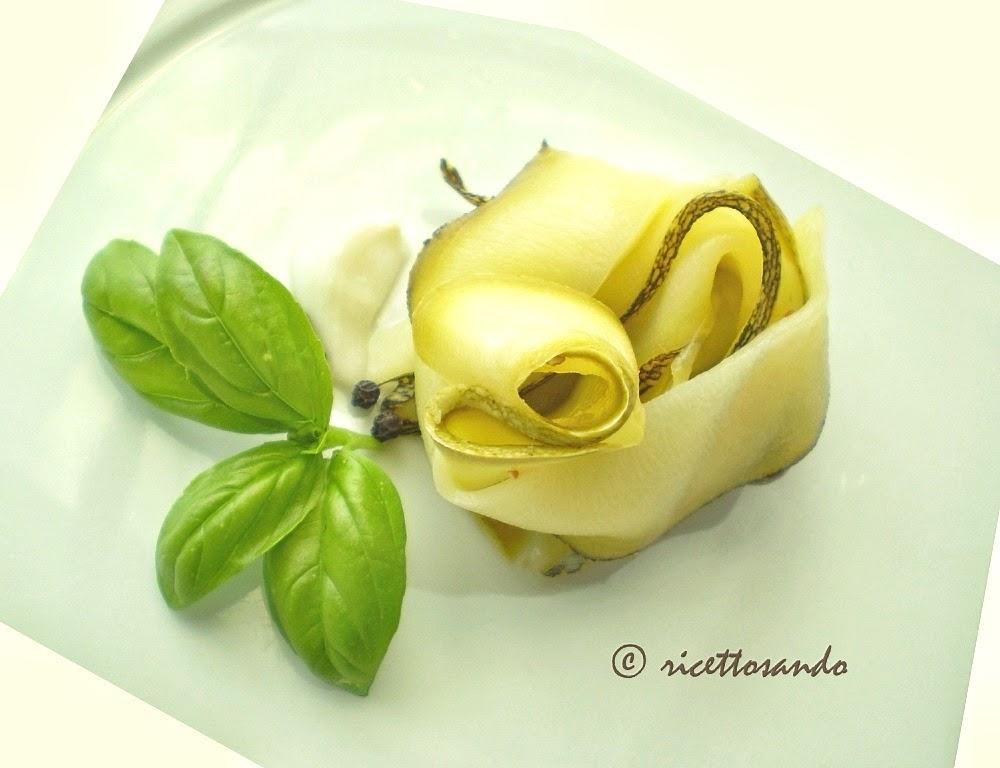 Zucchine marinate ricetta di antipasto di verdura