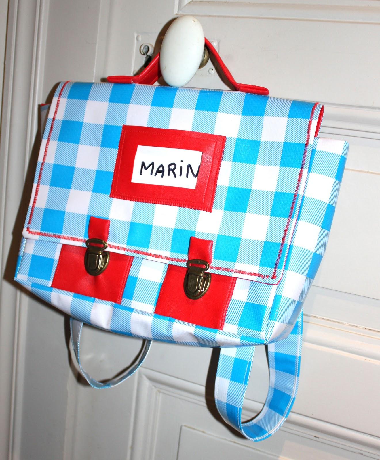 L 39 atelier des petites bauloises cartable maternelle en toile cir e - Image cartable maternelle ...