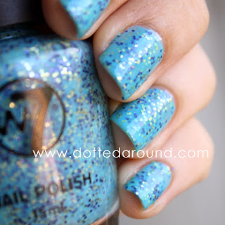W7 Mosaic polish sprinkles swatch