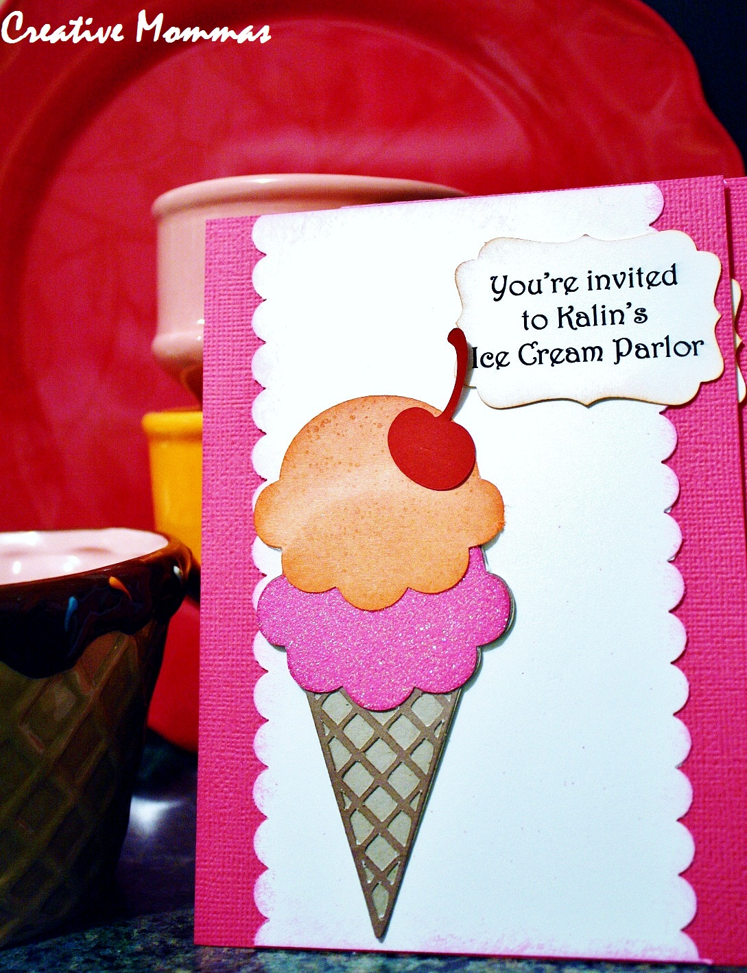 Creative Mommas: Ice Cream Parlor Party Invitations