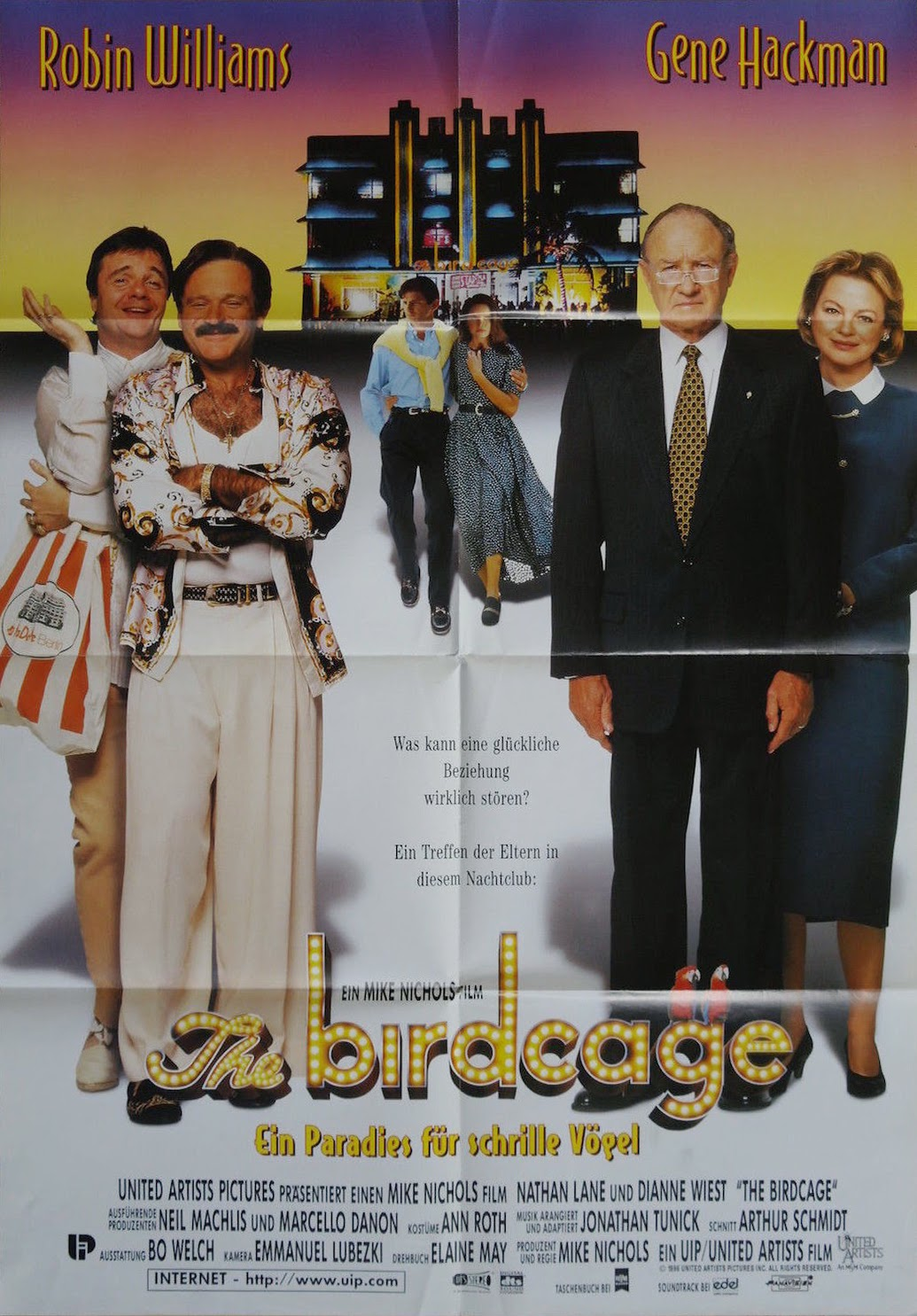 an analysis of the bird cage by mike nichols Mike nichols, the entertainment which stretched a half-century, included such successes as carnal knowledge, working girl, the birdcage and closer.