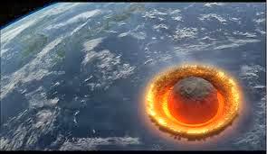 asteroide chocando con la Tierra