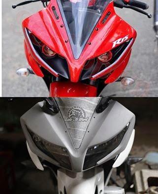 Headlamp Fiberglass Baru Yamaha R15