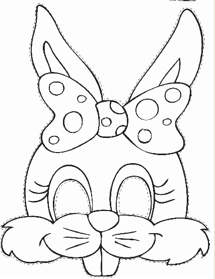 Critical image within printable bunny mask