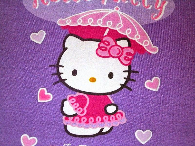 Gambar Wallpaper Hello Kitty Ungu Hujan Payung Lucu Terbaru