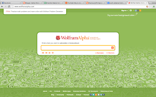Screenshot of Wolframalpha