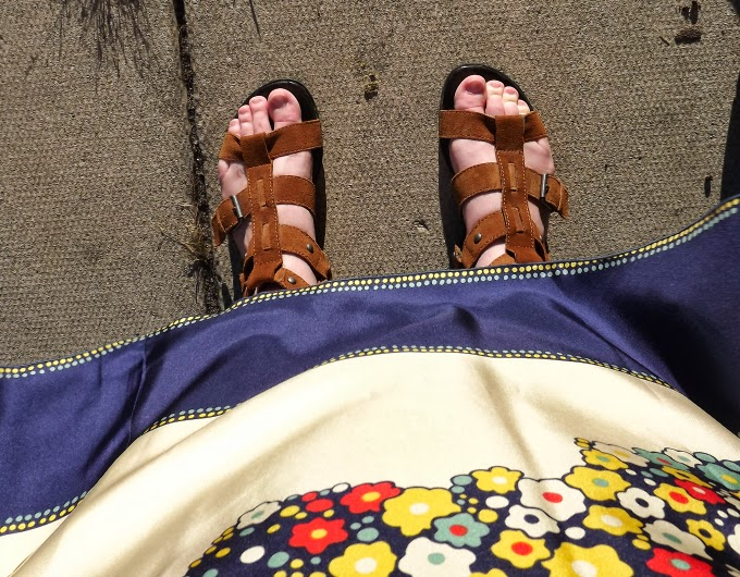shoes, brown sandals, gladiator sandals, A Coin For the Well