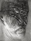 Desenhos com carvão do artista Gil Vicente