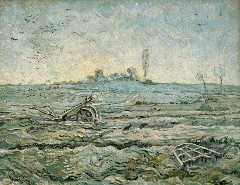 Ван Гог, зимен пейзаж