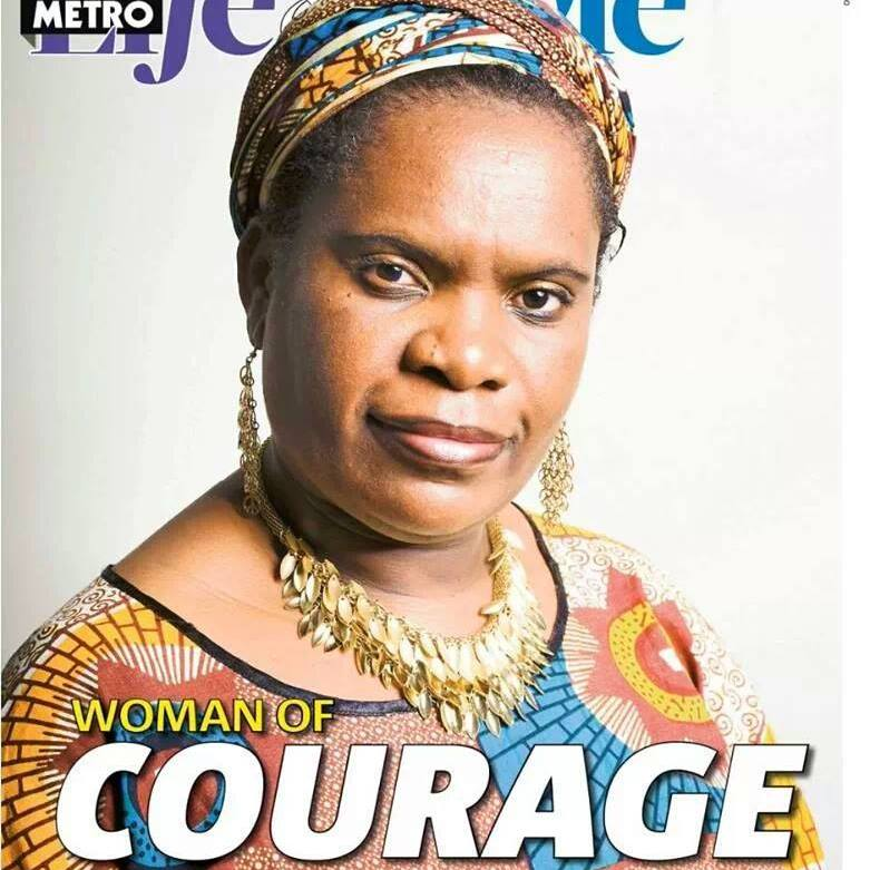 Featured in UK Metro as Woman of Courage