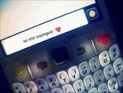 Messages sms d'amour tu me manque