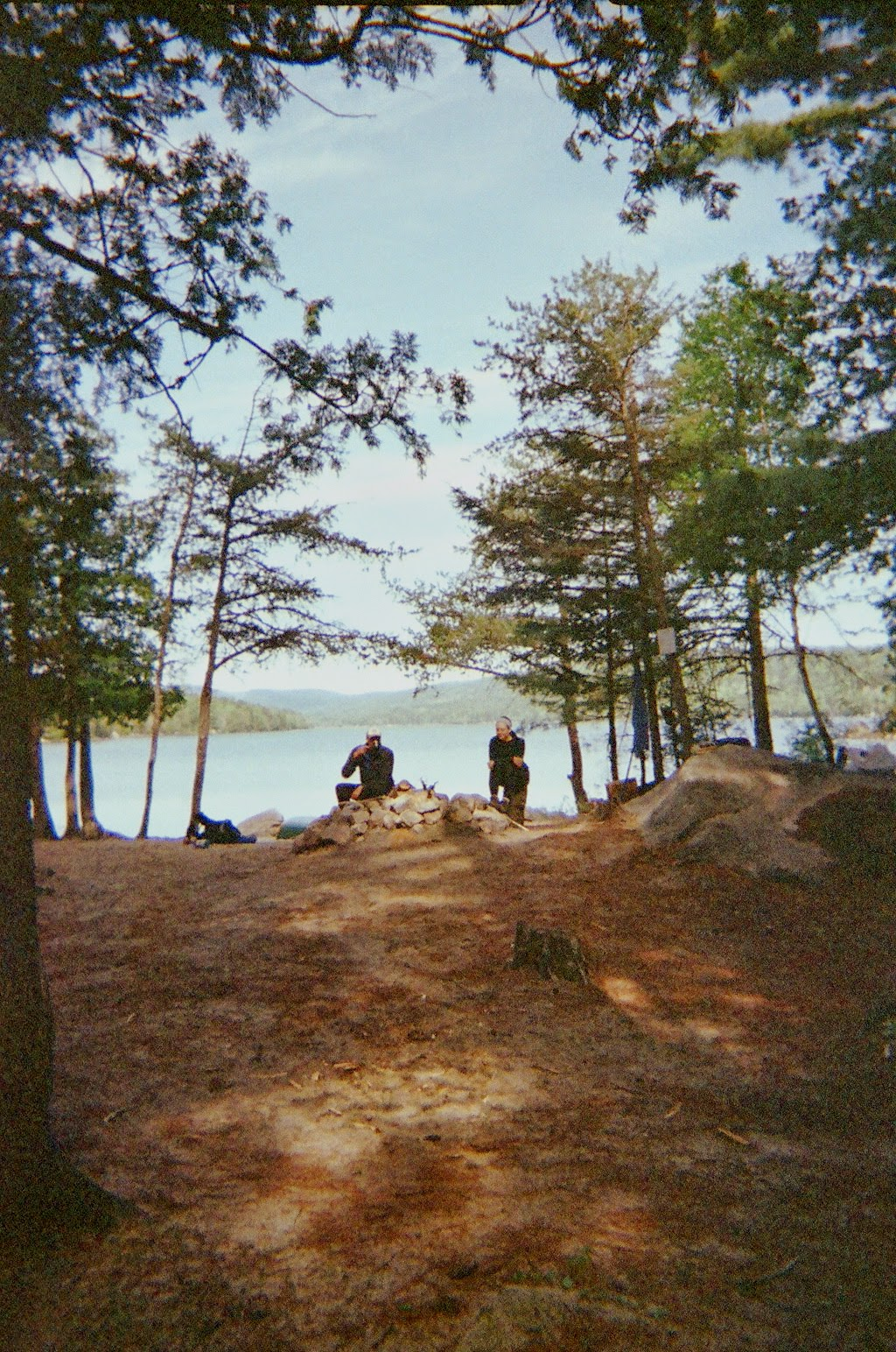 Campsite on Debsconeag Lakes, Maine