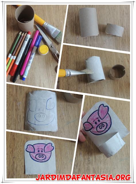 Reciclagem Divertida Bonecos com rolo de papel higiênico